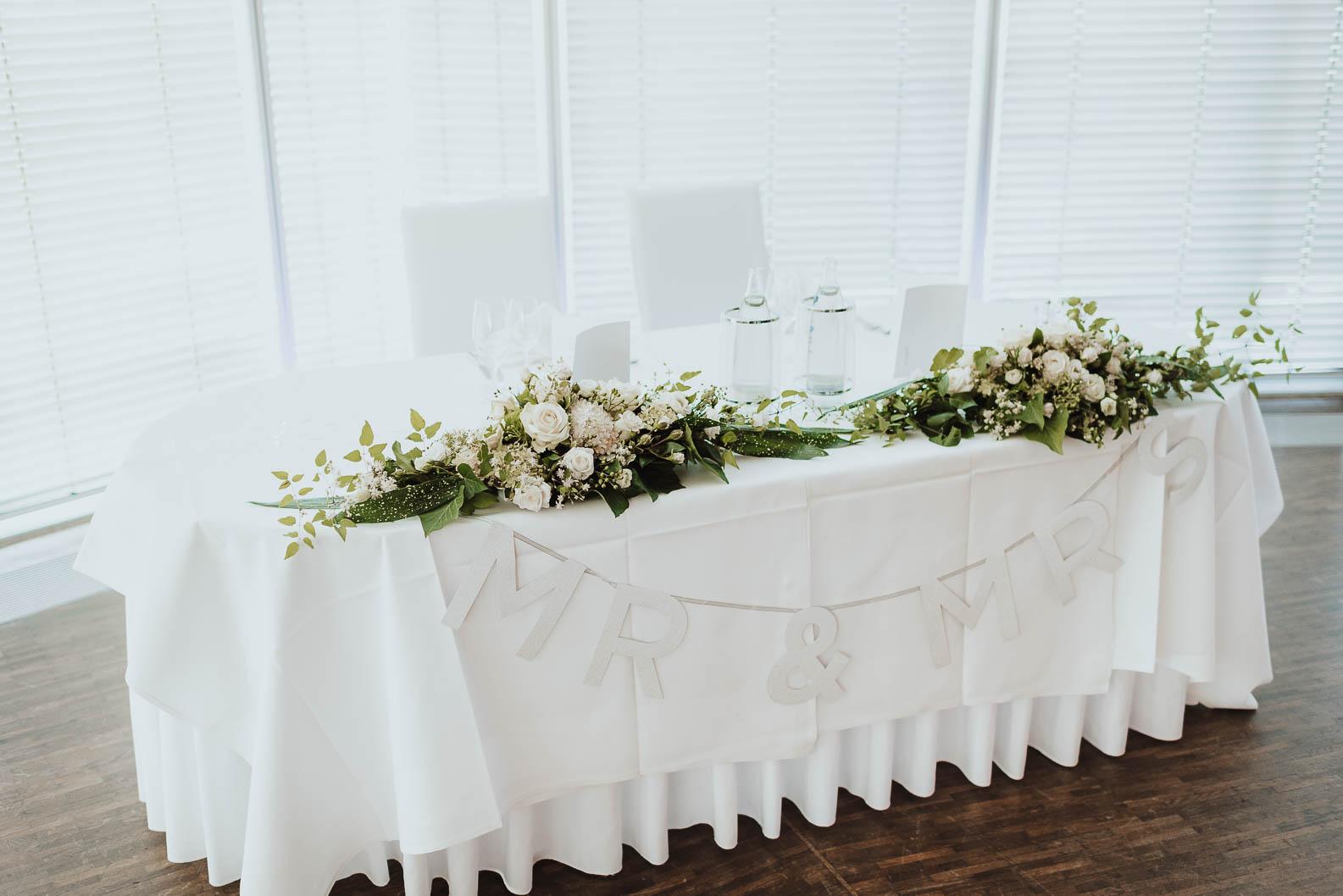 Hochzeitsdeko Tischdeko Brauttisch